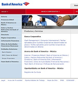 Bank of America Mexico